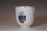 Chinese Armorial Cup GARLAND Family Crest Coat Arms
