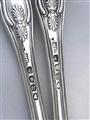 Pair Antique George III Sterling Silver King's pattern Dessert Forks, 1820