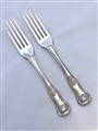 Pair Antique George III Sterling Silver King's pattern Dessert Forks, 1820