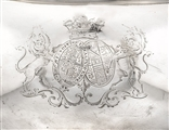 ROYAL PRESENTATION TO THE KING'S DOCTOR: A George III silver tea urn, stand and lamp