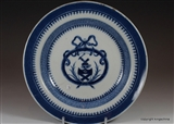 Chinese Armorial Saucer Plate BRUCE Coat Arms Crest