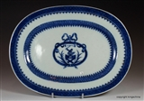 Chinese Armorial Plate BRUCE Coat Arms Crest
