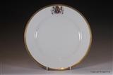 Sevres Armorial Porcelain Plate HERBERT Highclere Castle