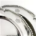ROYAL: A Set of Twelve George III Sterling Silver Dinner Plates