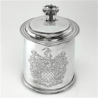 A Charles II silver tankard