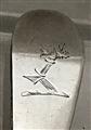 Antique Sterling Silver Hallmarked George III Old English Pattern Dessert Spoon, 1791