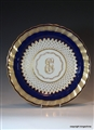 Derby Armorial Porcelain Monogram Plate GOSLING of Bentfield House & Hassonbury Stansted