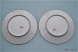 Pair EAGLE Armorial Porcelain Crest Plates DOCCIA Italy