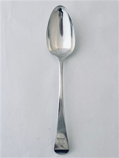 Beautiful Antique Sterling Silver George III Old English Pattern Table Spoon 1789