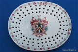 Chinese Armorial Porcelain Plate Drainer SKINNER