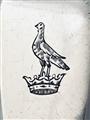 An antique Georgian sterling silver fiddle pattern teaspoon 1829
