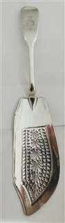 Antique Georgian silver fish slice of the 9th Regiment of Foot, London 1825