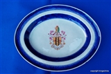 Chinese Armorial Porcelain Platter Plate SNODGRASS E.I.C GANJAM TAX COLLECTOR