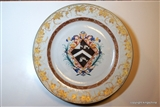 Chinese Armorial Porcelain Charger FRYER 1735 dau. LORD MAYOR LONDON