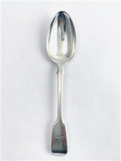 Antique Victorian Hallmarked Sterling Silver Fiddle pattern Dessert Spoon 1848
