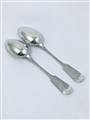 Antique Victorian Silverplated Pair Fiddle Pattern Tablespoons 1854
