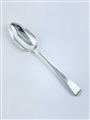 Antique George III Hallmarked Sterling Silver Winged Old English Pattern Tablespoon 1774
