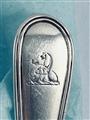 Antique George III Hallmarked Sterling Silver Fiddle Thread Pattern Teaspoon 1800