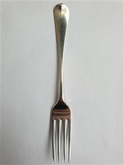Antique George III Hallmarked Sterling Silver Old English Pattern Dessert Fork, 1812