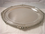 A fine and large George IV antique silver meat dish