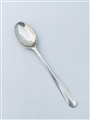 Antique George II Hallmarked Sterling Silver Shell Back Hanoverian Pattern Teaspoon c.1735
