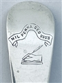 Antique Victorian Hallmarked Sterling Silver Old English Pattern Salt Spoon 1882