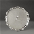 QUEEN VICTORIA ROYAL PRESENTATION: A George II silver salver