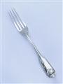 Antique George IV Hallmarked Sterling Silver Fiddle Thread & Shell Pattern Dessert Fork 1823