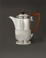 NAVAL INTEREST: A George IV silver coffee pot