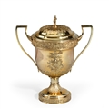 PETERLOO MASSACRE INTEREST: A monumental Regency silver-gilt presentation cup and cover, Peter and William Bateman, London, 1812, PRESENTED TO ONE OF THE MAGISTRATES AT PETERLOO.