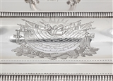 CAPTAIN GEORGE COLLIER NAVAL INTEREST: A PAIR OF ANTIQUE PRESENTATION SILVER ENTREE DISHES