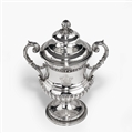 WATERLOO INTEREST: A George III antique silver cup and cover