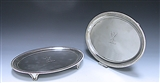 Pair of George III Antique Silver Oval Salvers made in 1803