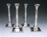 Set of George III Antique Sterling Silver Cast Candlesticks made for the Earl of Hillsborough in 1767