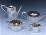 Antique Silver Victorian Tea & Coffee Set made in 1870-73