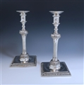 Pair of George III Antique Silver Candlesticks made in 1774