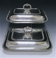 Pair of George IV Antique Silver Entree Dishes made in 1822