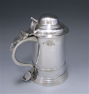 Antique Silver George II Tankard made in 1755