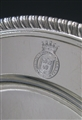 Set of 12 Antique Silver Dinner Plates belonging to a Prime Minister made in 1808