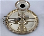 Antique Silver George III Chamberstick made in 1817