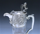Antique Silver Victorian Mounted Claret Jug made in 1858