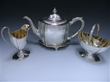 Antique Silver George III Three-Piece Tea Set made in 1796-98