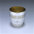 Antique Silver George III Beaker made in 1808