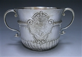 Antique Silver Queen Anne Britannia Porringer made in 1706