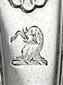 Antique Victorian Hallmarked Sterling Silver Fiddle Thread & Shell Teaspoon 1860