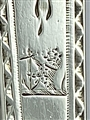Antique George III Hallmarked Sterling Silver Pair Bright Cut Sugar Tongs c. 1780