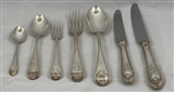 Antique Silver Carrington Shield Pattern Flatware Service made in 1778-80