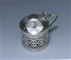 Antique Sterling Silver George III Mustard Pot made in 1780