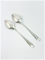 Antique Hallmarked Sterling Silver Pair George III Old English Pattern Teaspoons 1804