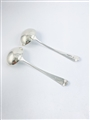 Antique Hallmarked Sterling Silver Pair Victorian Old English pattern Sauce Ladles 1842